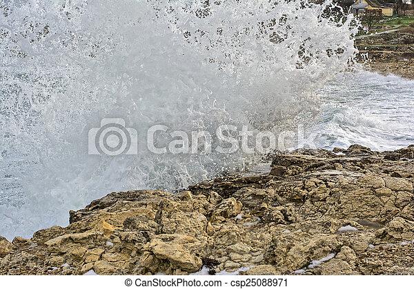 storm on sea - csp25088971