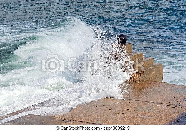 storm on sea - csp43009213