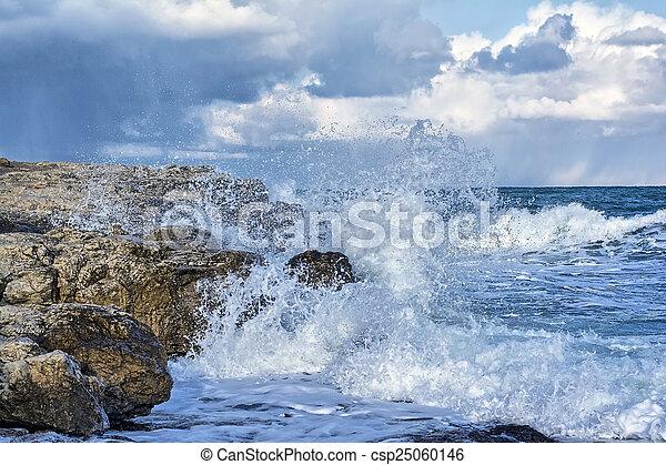 storm on sea - csp25060146