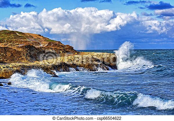 storm on sea - csp66504622