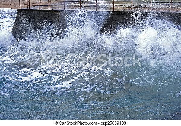 storm on sea - csp25089103