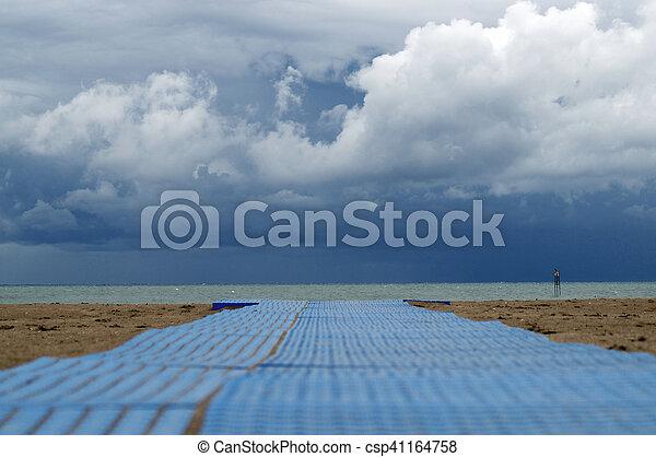 storm on the beach - csp41164758