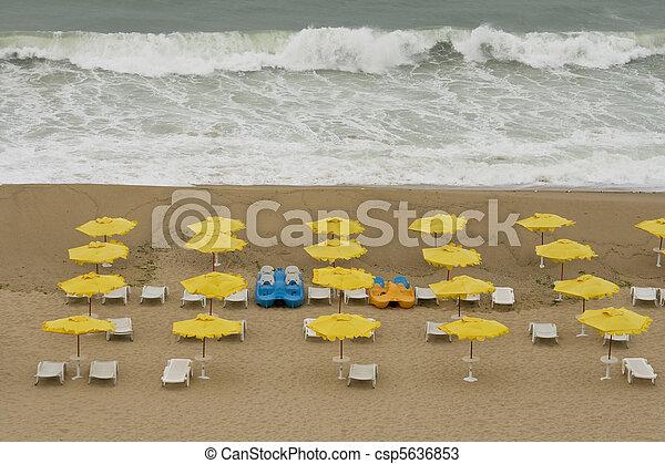 Storm on the beach - csp5636853