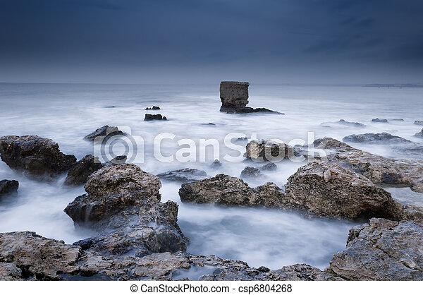 Storm sea - csp6804268