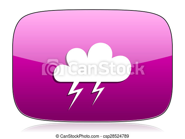 storm violet icon waether forecast sign - csp28524789