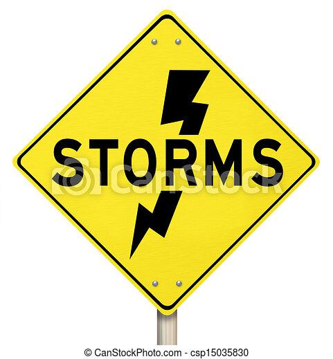 Storms yellow warning sign lightning dangerous forecast ... Hurricane Warning Clip Art