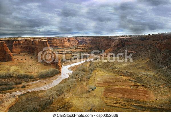 Stormy Canyon de Chelly - csp0352686