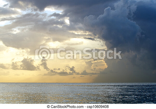 Stormy clouds at Florida Sunrise - csp10609408