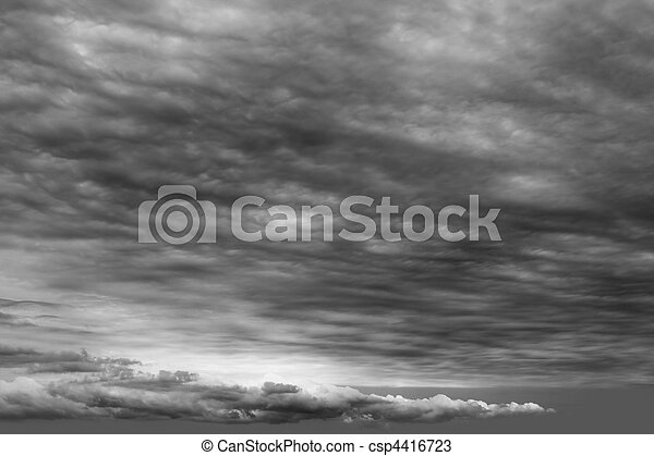 stormy clouds cloudscape dark gray cloudy day - csp4416723