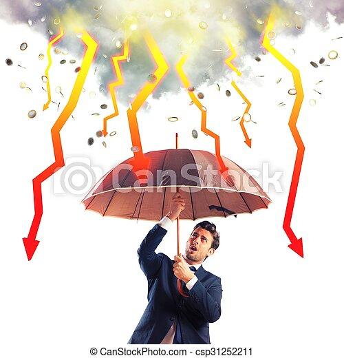 Stormy economic crisis - csp31252211