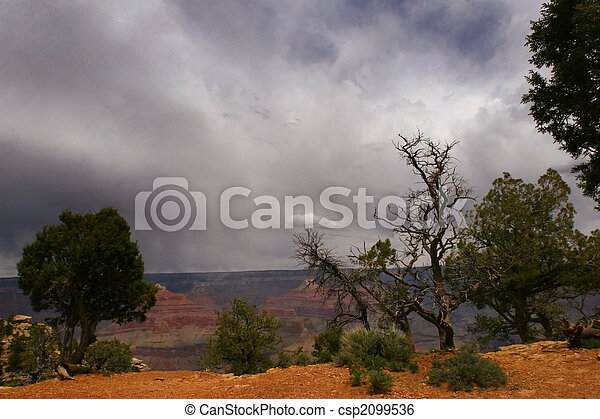 Stormy Grand Canyon - csp2099536