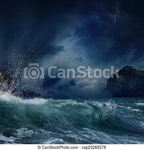 Stormy sea - csp23265578