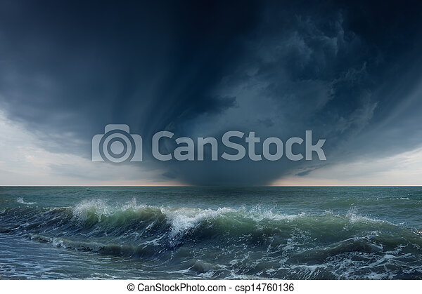 Stormy sea - csp14760136