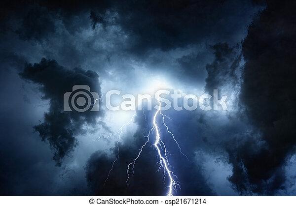 Stormy sky - csp21671214