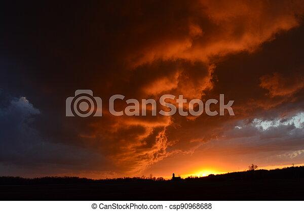 Stormy Sunset - csp90968688