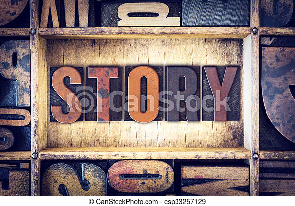 Story Concept Letterpress Type - csp33257129