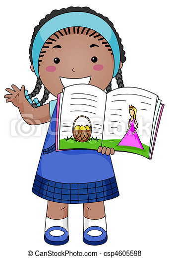 story telling a beaming girl telling a story rh canstockphoto com show n tell clipart show & tell clipart