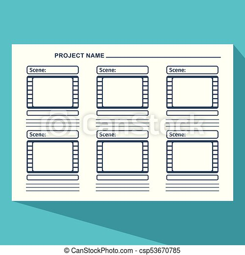 Storyboard Template Blue Storyboard Template In Form Of A Film