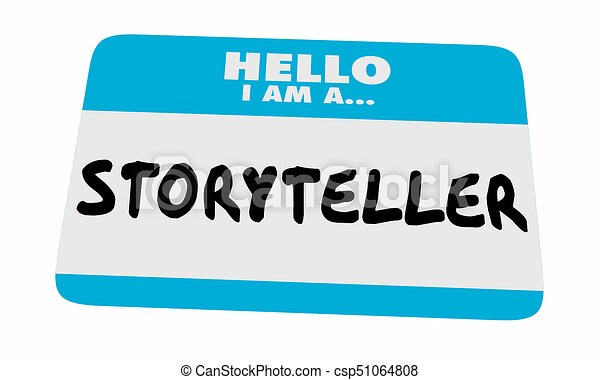 Storyteller Hello Name Tag Sticker Communicate Message 3d Illustration - csp51064808
