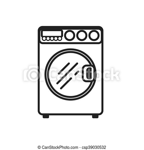Stove Supply House Electric Appliance Icon Vector Graphic Washer