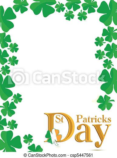 St.Patricks Day card - csp5447561