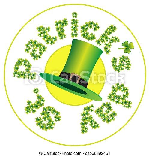 St.Patrick's Day coaster - csp66392461
