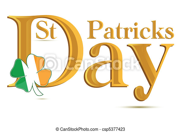 St.Patrick's Day gold text - csp5377423