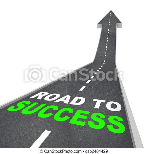straat, richtingwijzer, -, op, succes - csp2484429