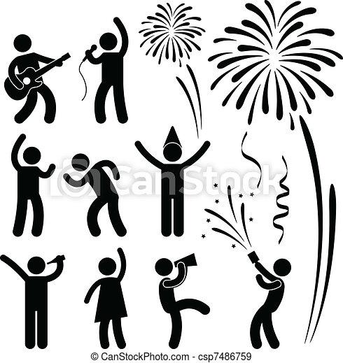 straatfeest, feestje, gebeurtenis, viering - csp7486759