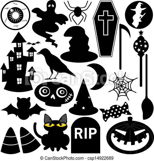 Halloween Thema.Straatfeest Halloween Thema Silhouette