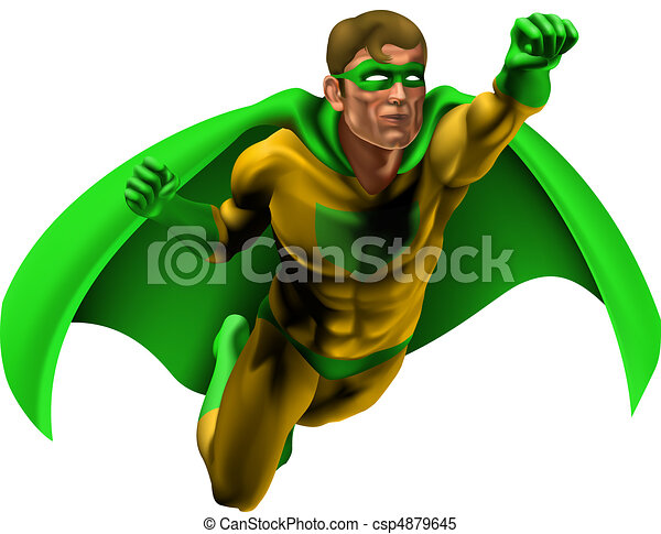 strabiliante, superhero, illustrazione - csp4879645