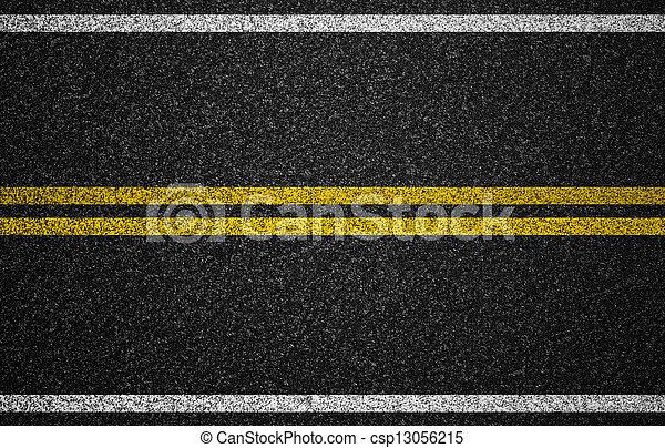 strada, fondo, tacche, autostrada, asfalto - csp13056215