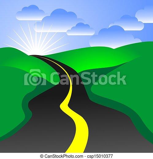 strada, illustrazione - csp15010377