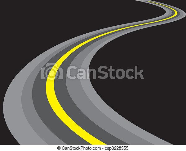 strada, illustrazione - csp3228355