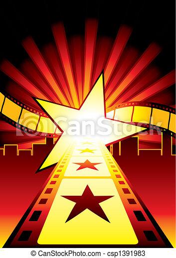strada, stelle - csp1391983