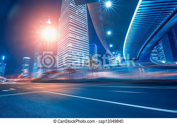 strada urbana, fondo - csp13349840