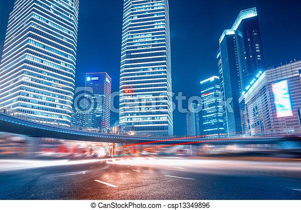 strada urbana, fondo - csp13349896