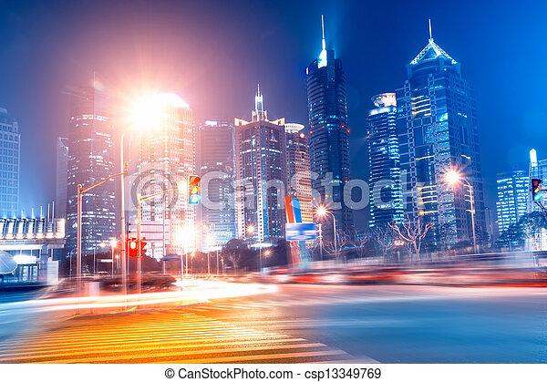 strada urbana, fondo - csp13349769