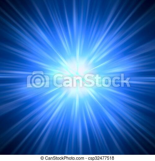 Abstract Background - Strahlen von bunten Licht - csp32477518