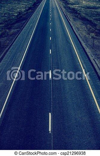 Straight Highway - csp21296938