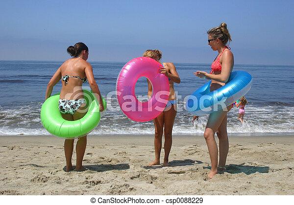 strand, flickor - csp0088229