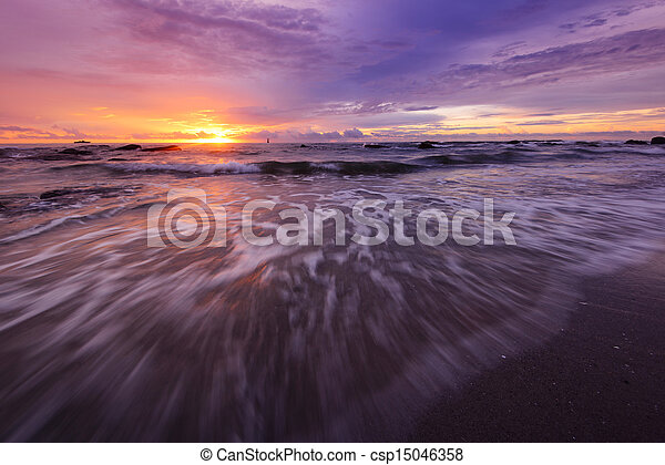 strand., sonnenaufgang - csp15046358