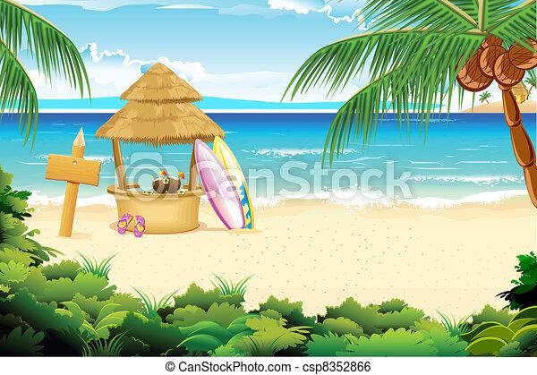 strand, stillhet - csp8352866