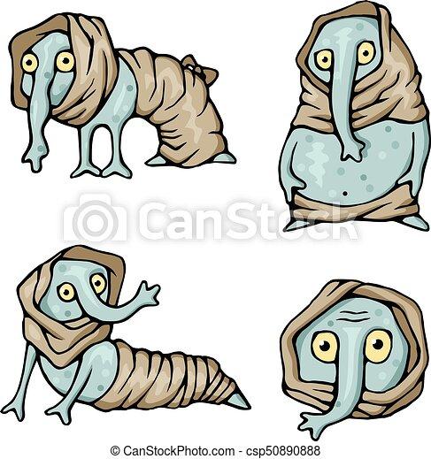 Strange creatures characters monsters set - csp50890888