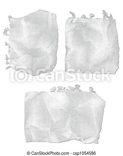 strappato, carta, blocco note - csp1054586