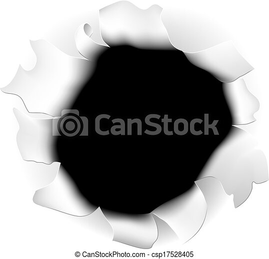 strappato, carta, buco - csp17528405