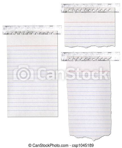 strappato, carta, nastro, quaderno - csp1045189