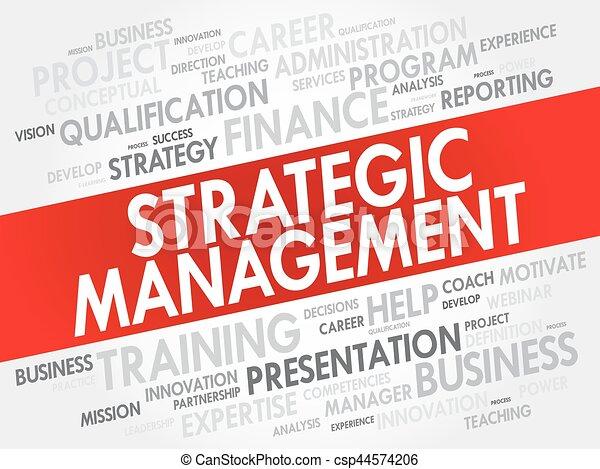 Strategic Management word cloud collage - csp44574206