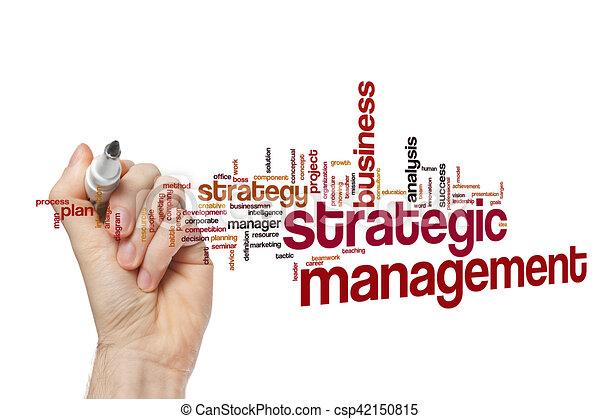 Strategic management word cloud concept - csp42150815