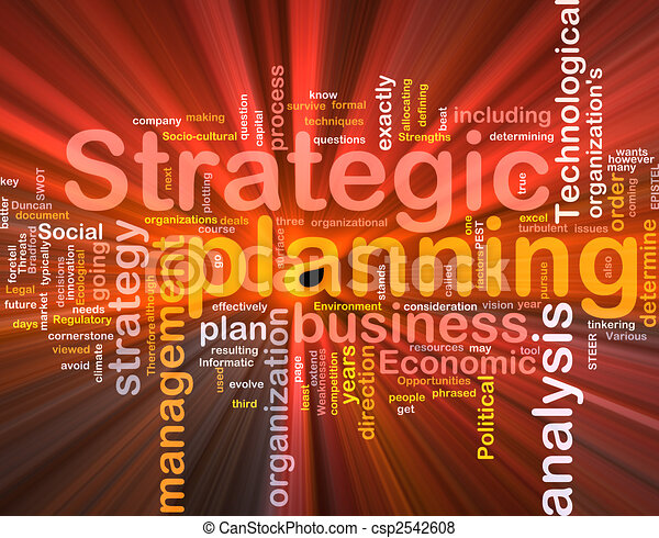 Strategic planning word cloud box package - csp2542608